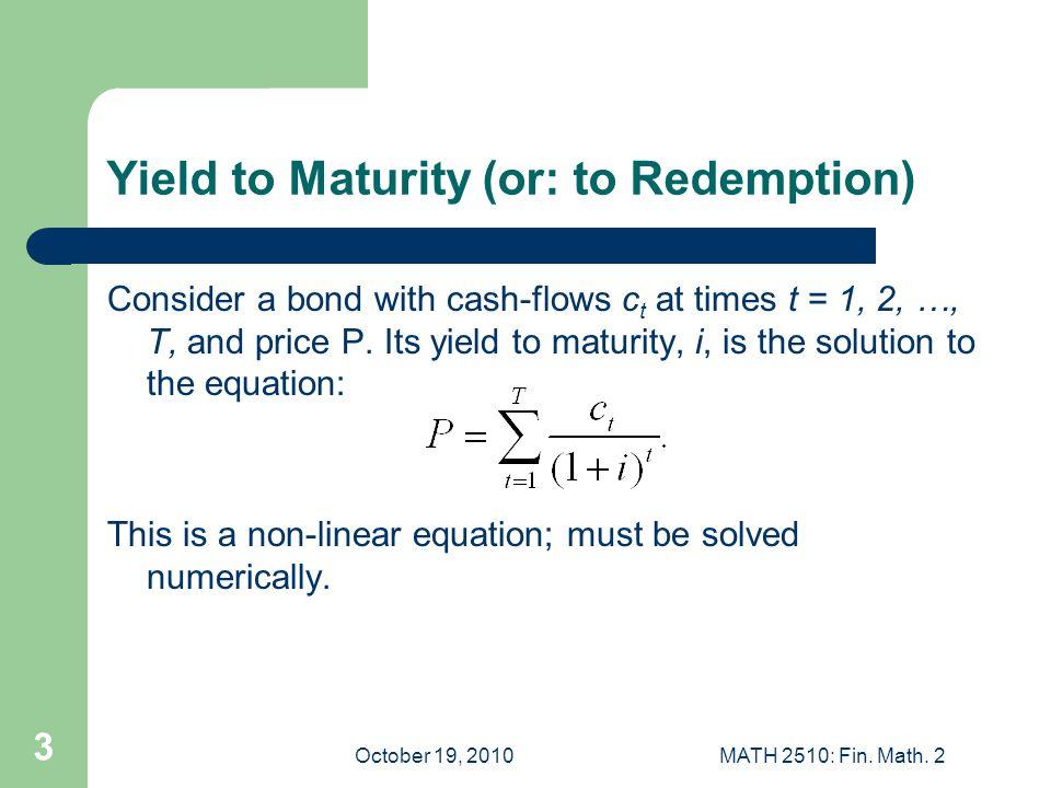 October 19, 2010MATH 2510: Fin.Math.