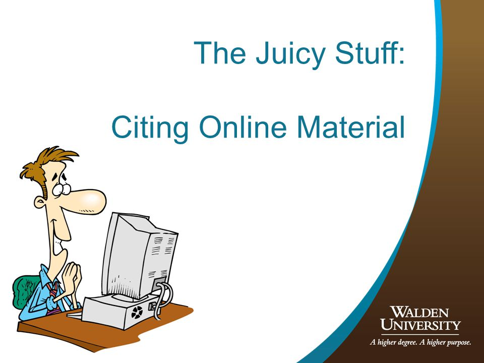13 The Juicy Stuff: Citing Online Material