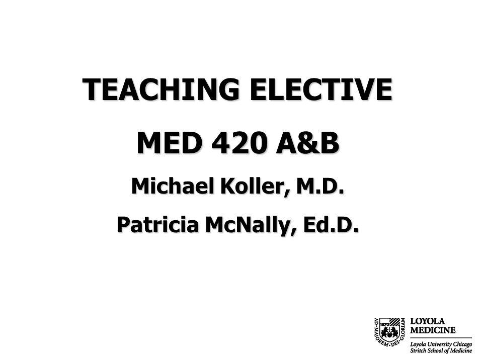 Maureen Locklund MED 420 course coordinator, SSOM 320