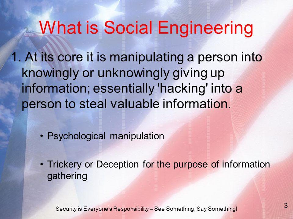 What is Social Engineering 1.