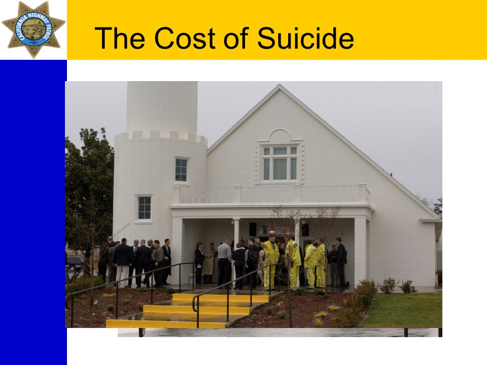 The Cost of Suicide Cut off from support Achievements minimized Private shame and guilt No honors or recognition Support network collapses Decreased benefits