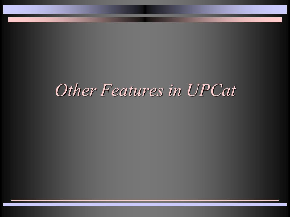Other Features in UPCat