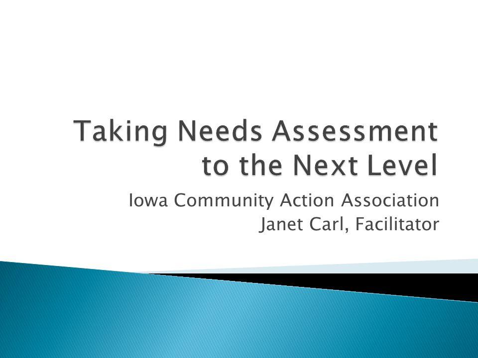 Iowa Community Action Association Janet Carl, Facilitator
