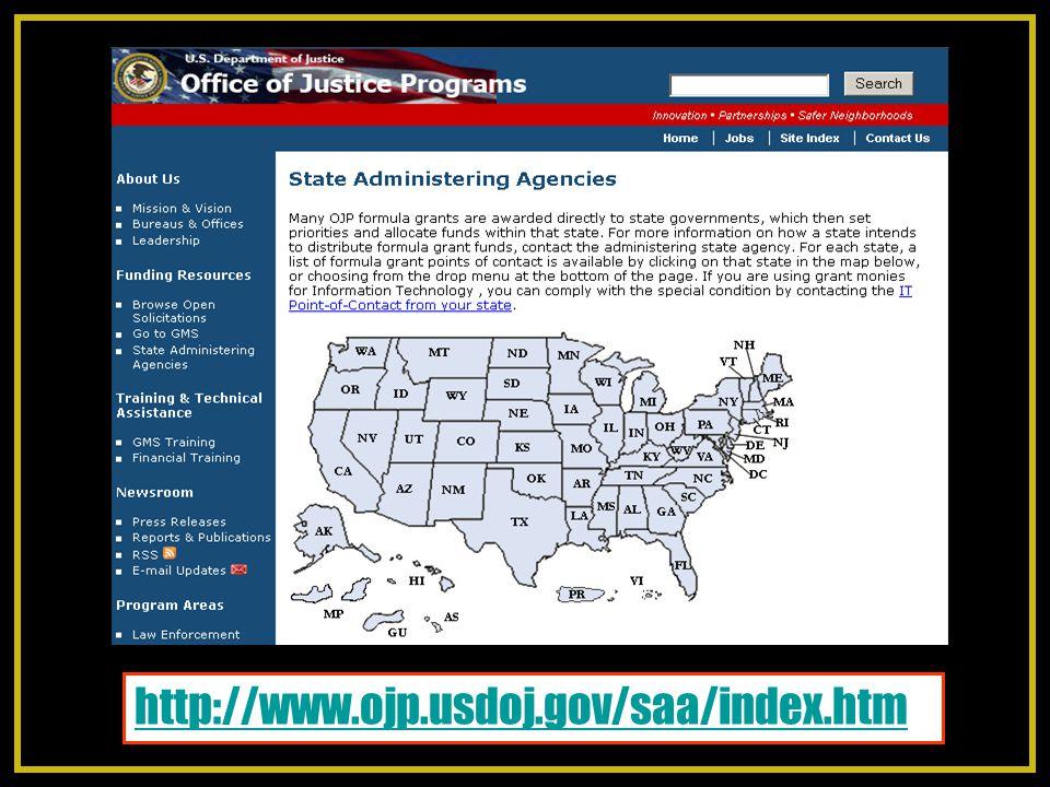http://www.ojp.usdoj.gov/saa/index.htm
