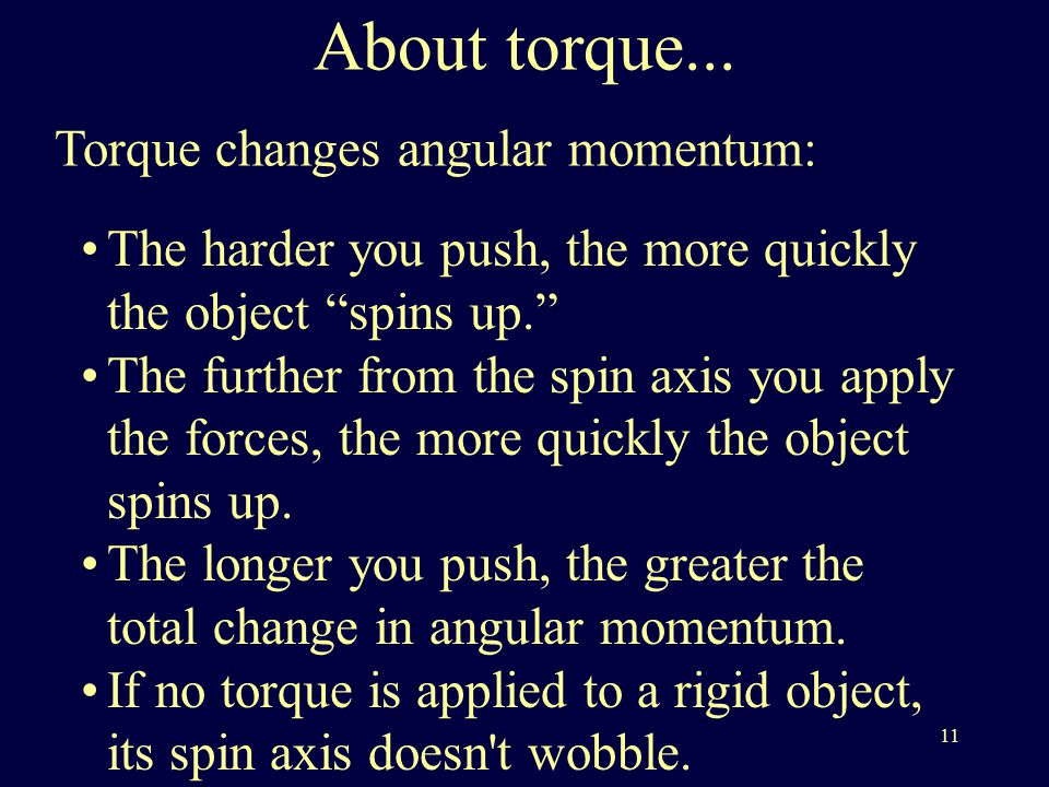 11 About torque...