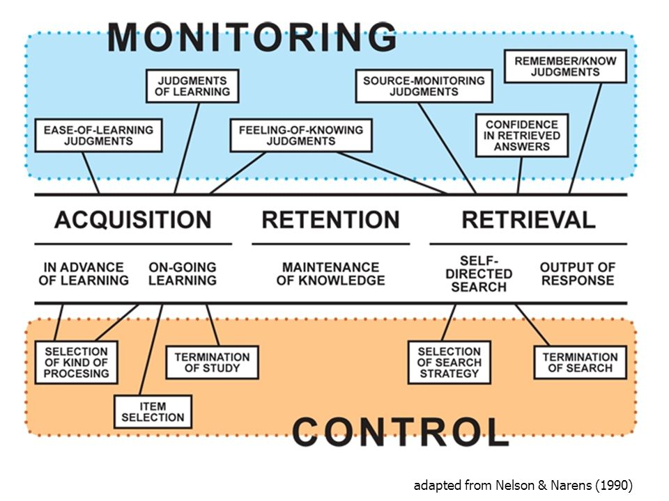 Self-regulated Learning: Theory and Data How do students use monitoring to allocate study time across items.