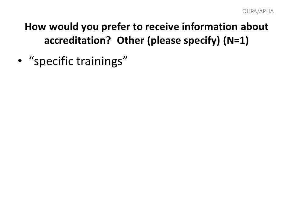 How would you prefer to receive information about accreditation.