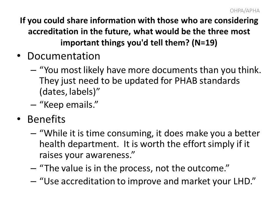 Documentation – You most likely have more documents than you think.