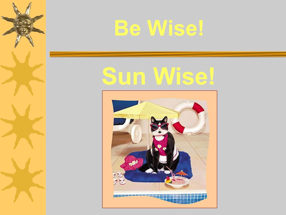 Be Wise! Sun Wise!