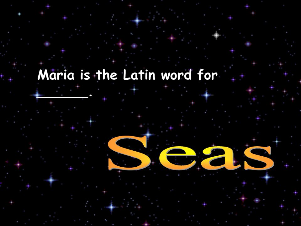 Maria is the Latin word for ______.