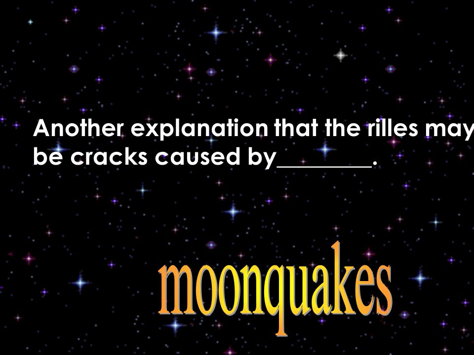 Another explanation that the rilles may be cracks caused by________.
