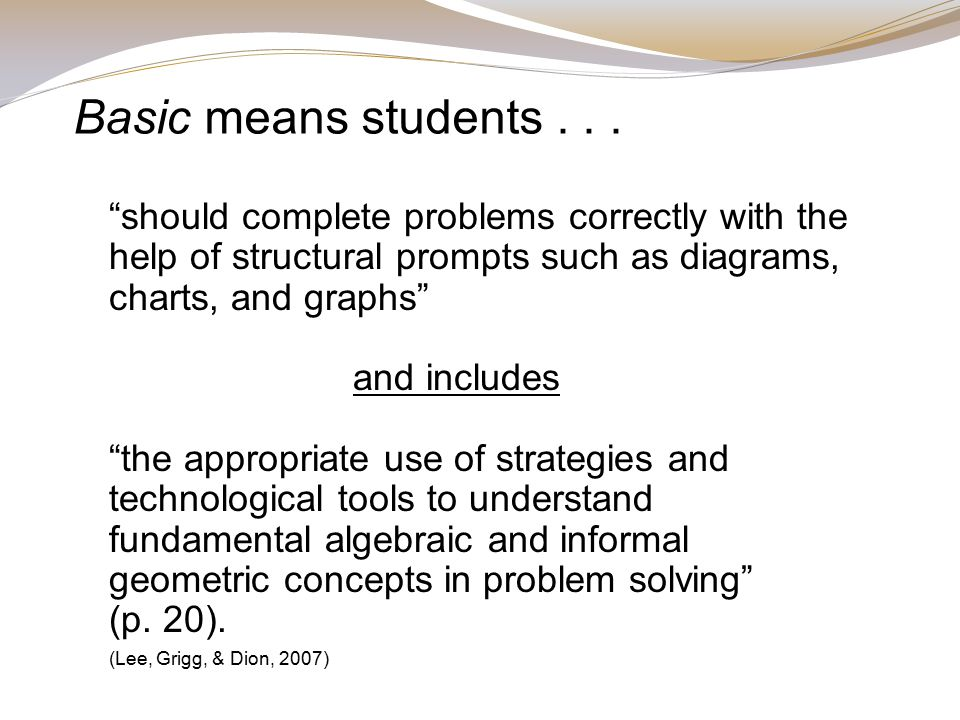 Basic means students...