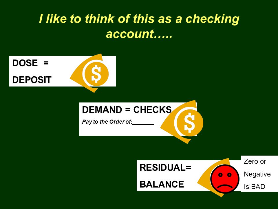 I like to think of this as a checking account…..
