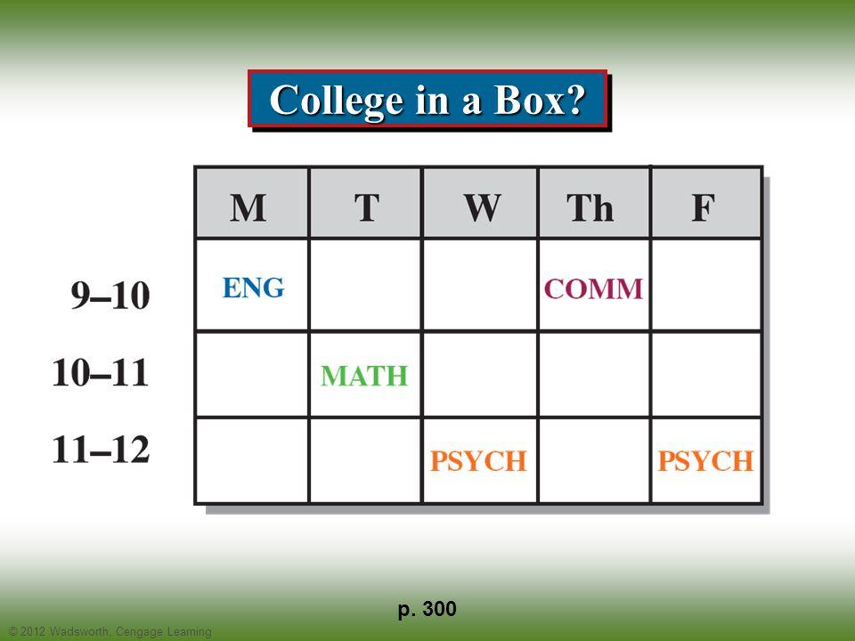 © 2012 Wadsworth, Cengage Learning VARK Activity p. 313