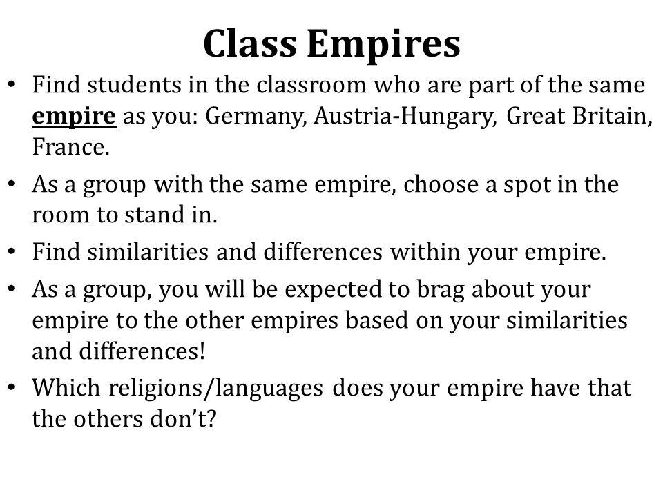 Choose an Empire you'd Befriend.