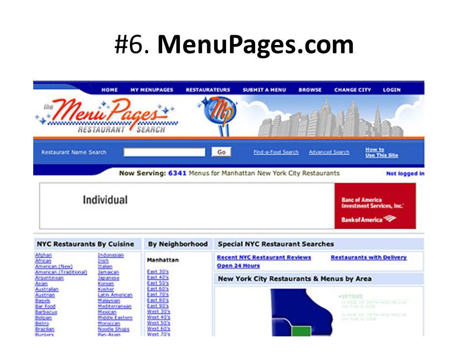 #6. MenuPages.com