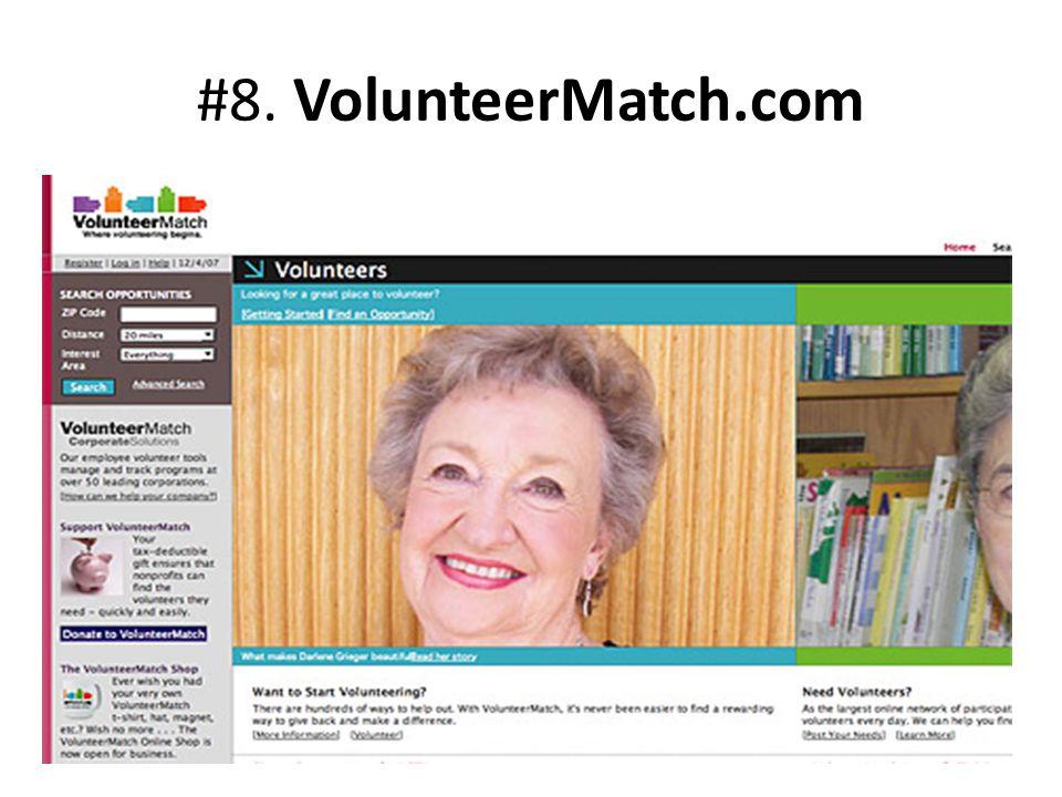 #8. VolunteerMatch.com