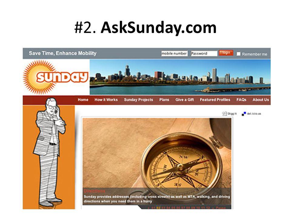 #2. AskSunday.com