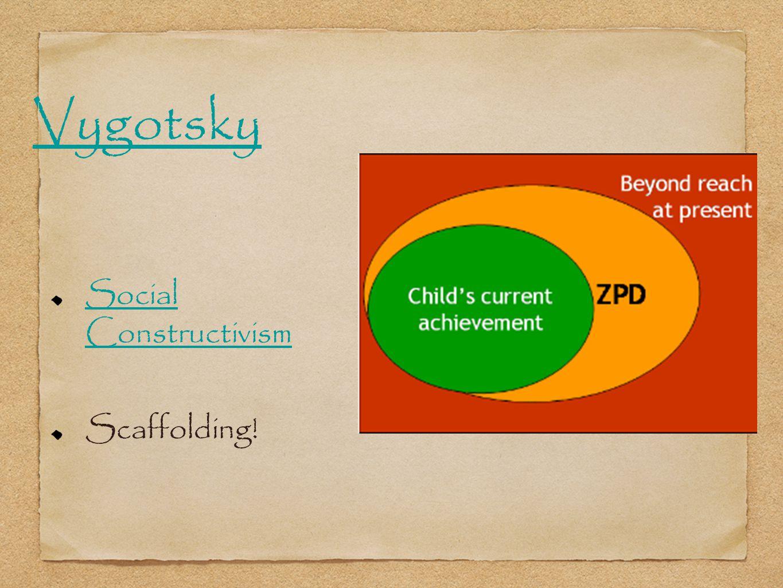 Social Constructivism Scaffolding! Vygotsky