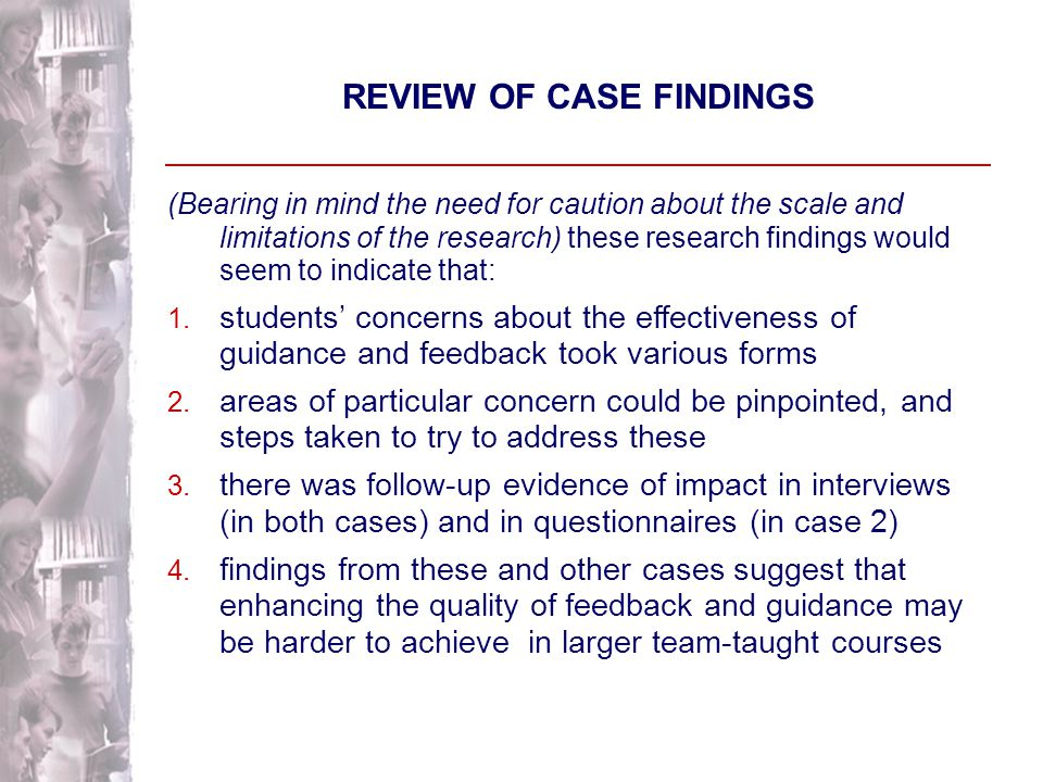 Case Two: FINDINGS ON IMPACT F Collaborative Initiative I:So do you think having feedback from other students [on your presentation] is worthwhile.
