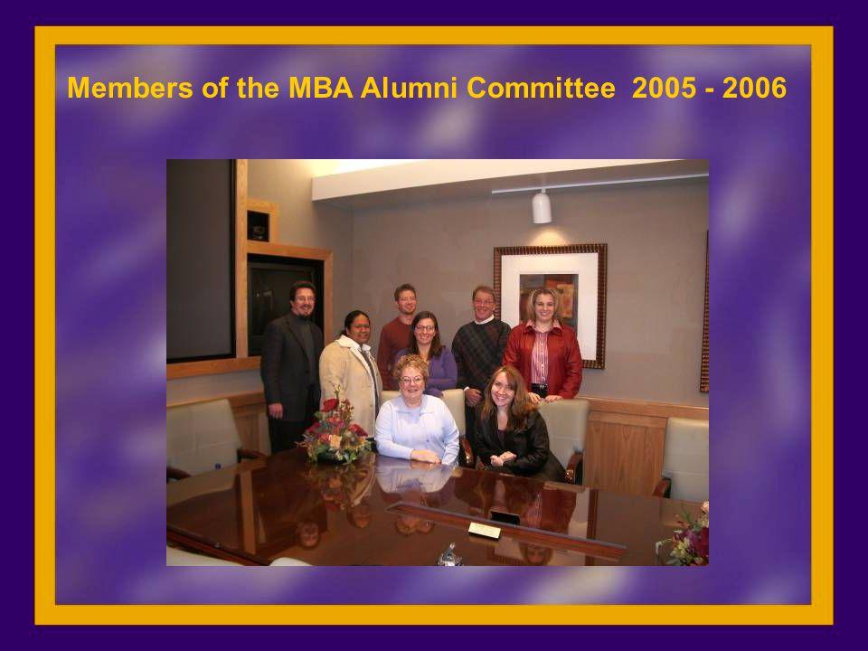 Members of the MBA Alumni Committee 2005 - 2006