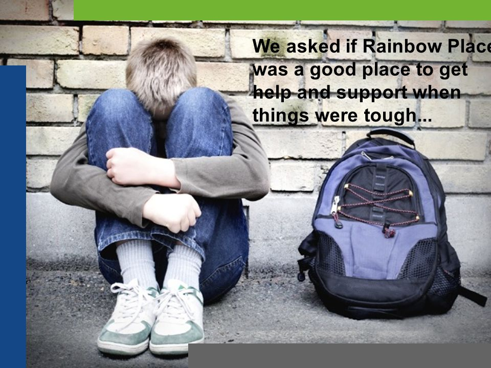 We asked if Rainbow Place was a good place to get help and support when things were tough...