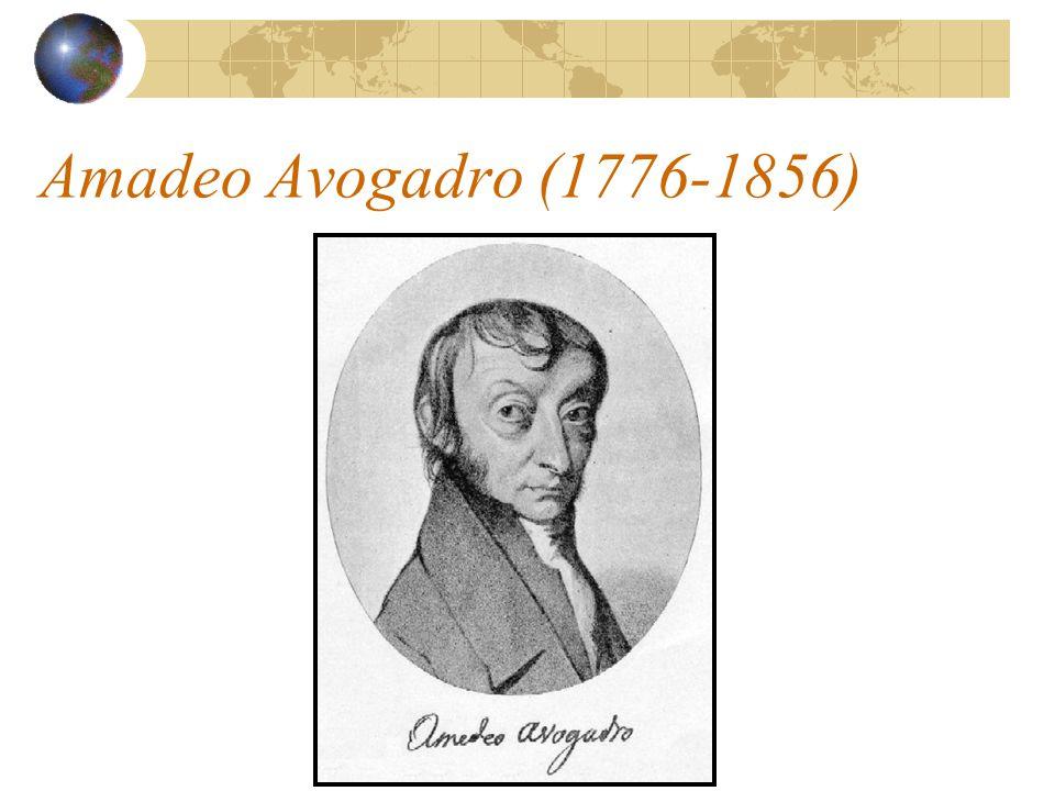 Amadeo Avogadro (1776-1856)