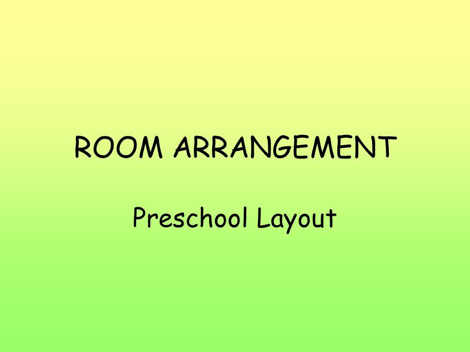 ROOM ARRANGEMENT Preschool Layout