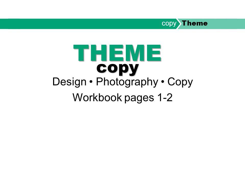 THEME copy Design Photography Copy Workbook pages 1-2 copy Theme