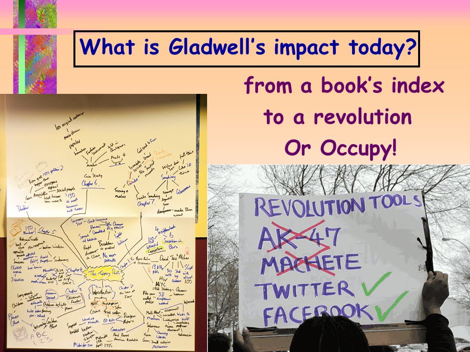 P ORTLAND L EADER S HIP I N S TITUTE N OURISH THE L EADER W ITHIN Y OU d www.portlandleadershipinstitute.com d What is Gladwell's impact today.