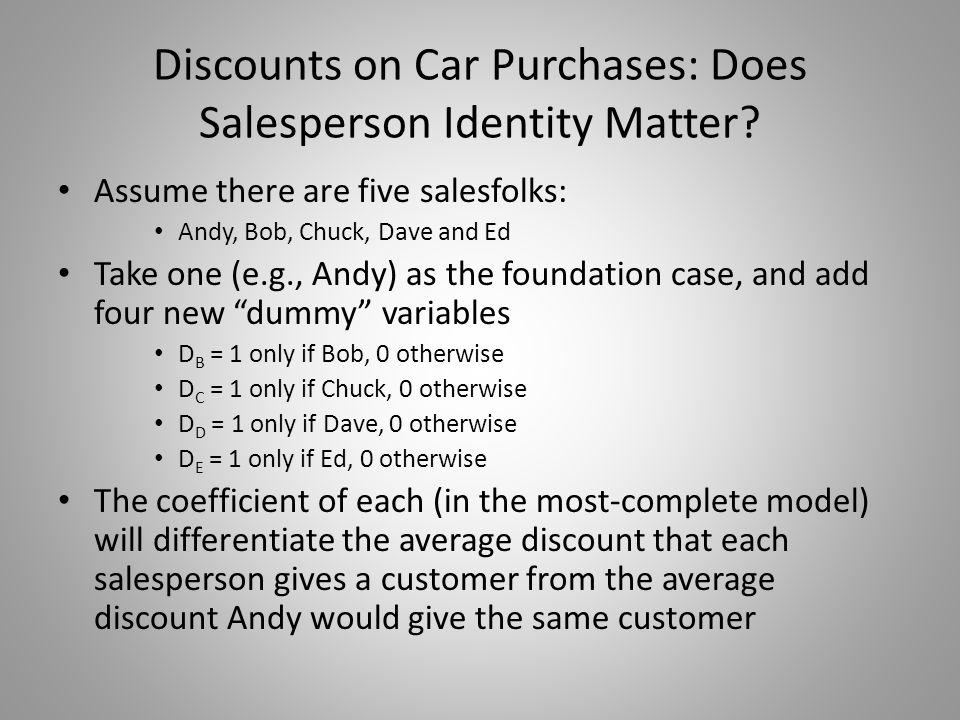 Does Salesperson Identity Matter.
