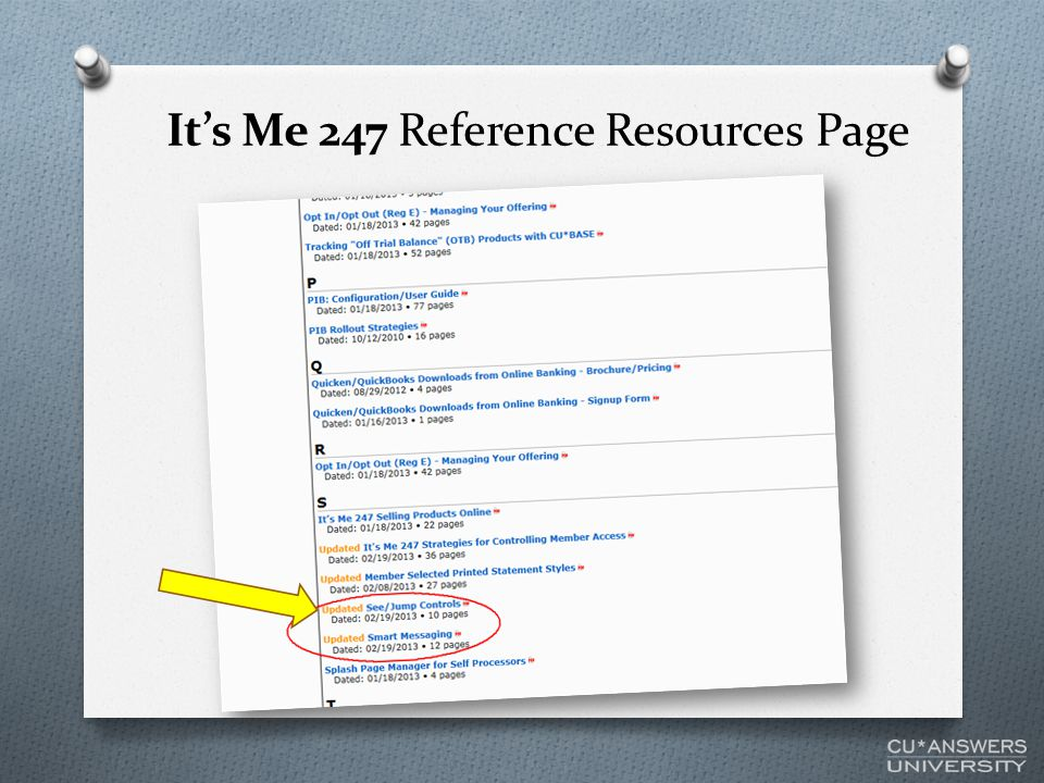 It's Me 247 Reference Resources Page
