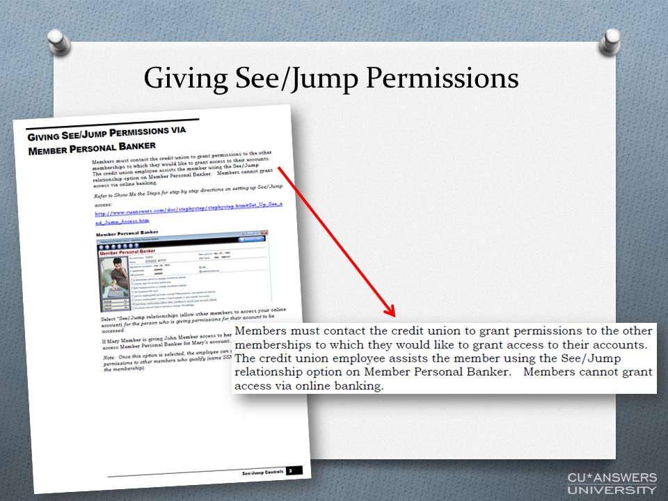 Giving See/Jump Permissions
