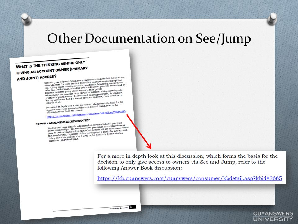 Other Documentation on See/Jump