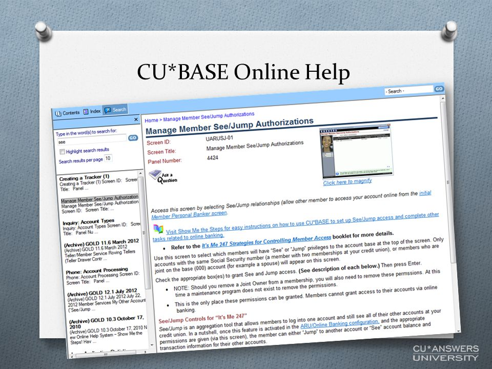 CU*BASE Online Help