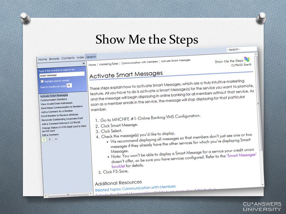 Show Me the Steps