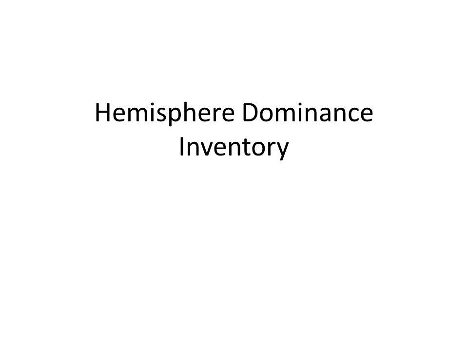 Hemisphere Dominance Inventory