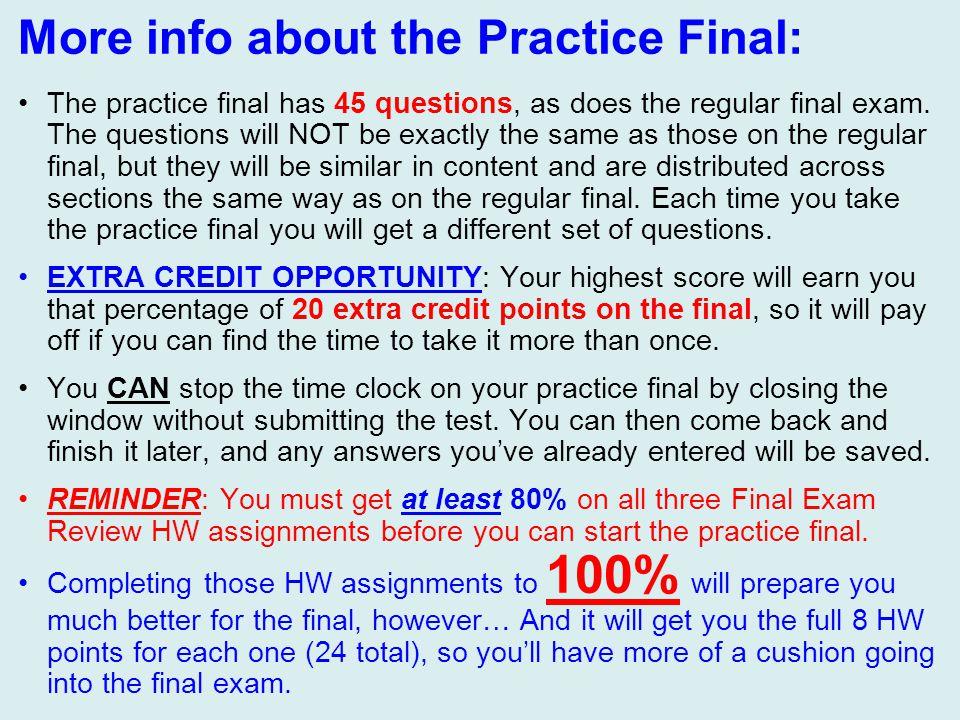 Final Exam Review, Part 2