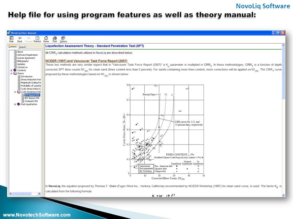 www.NovotechSoftware.com NovoLiq Software www.NovotechSoftware.com