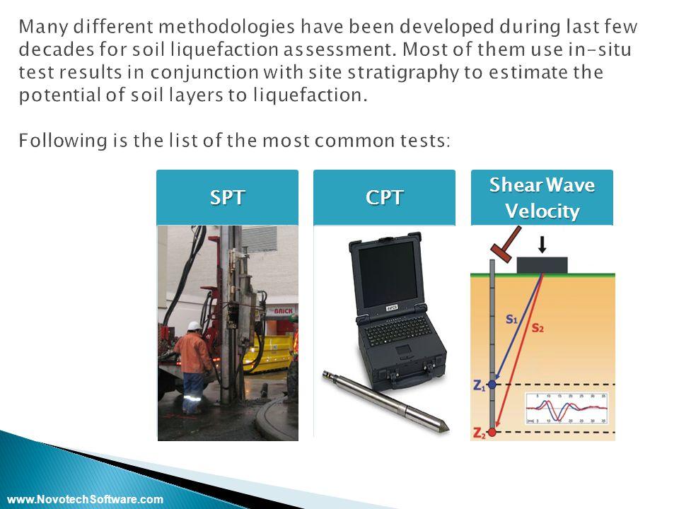www.NovotechSoftware.comSPTCPT Shear Wave Velocity