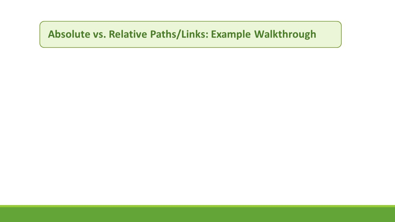 Absolute vs. Relative Paths/Links: Example Walkthrough