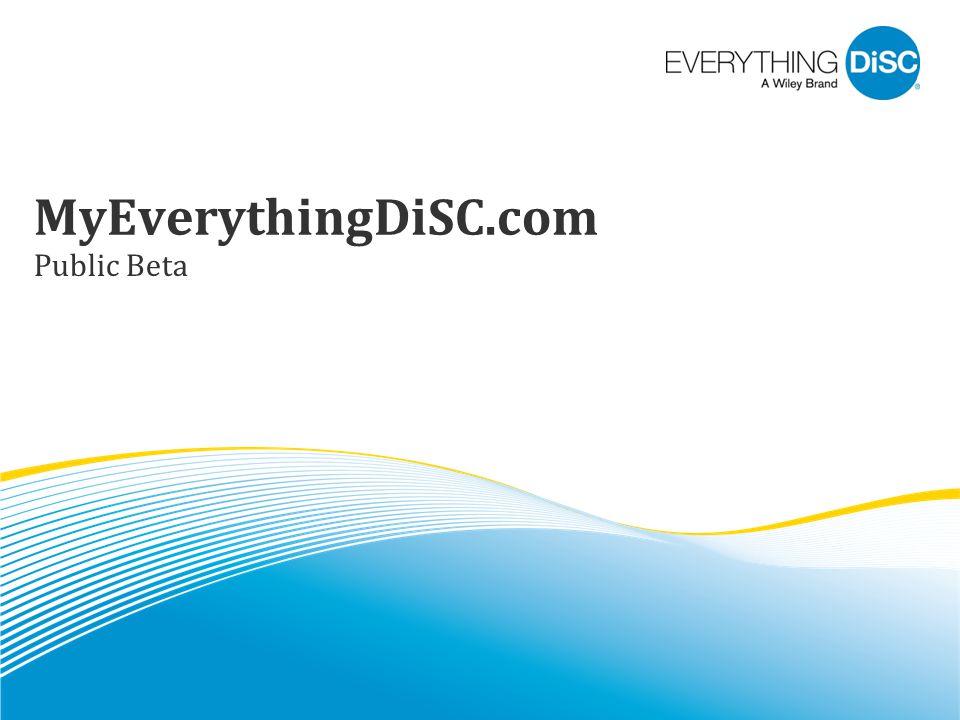 MyEverythingDiSC.com Public Beta