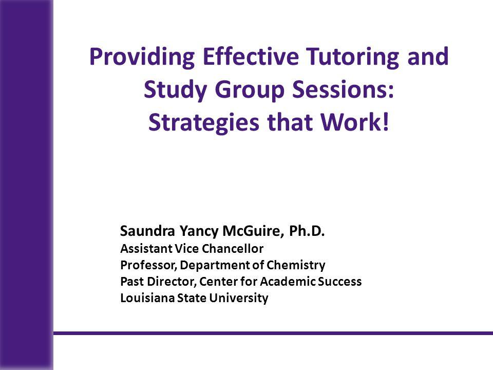 Saundra Yancy McGuire, Ph.D.