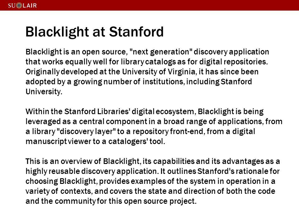 Why Blacklight.