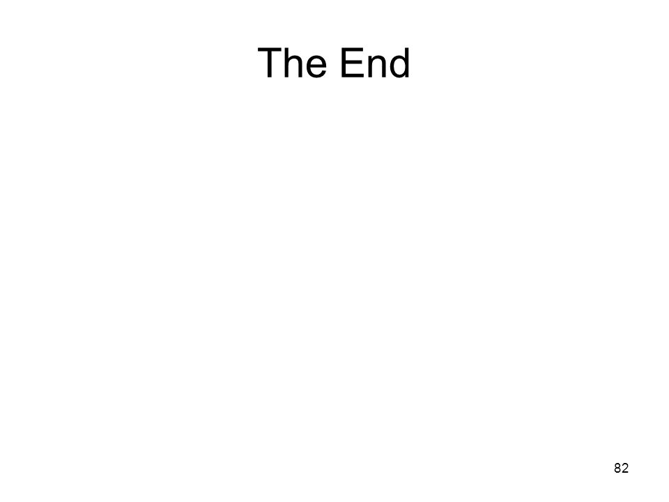 The End 82