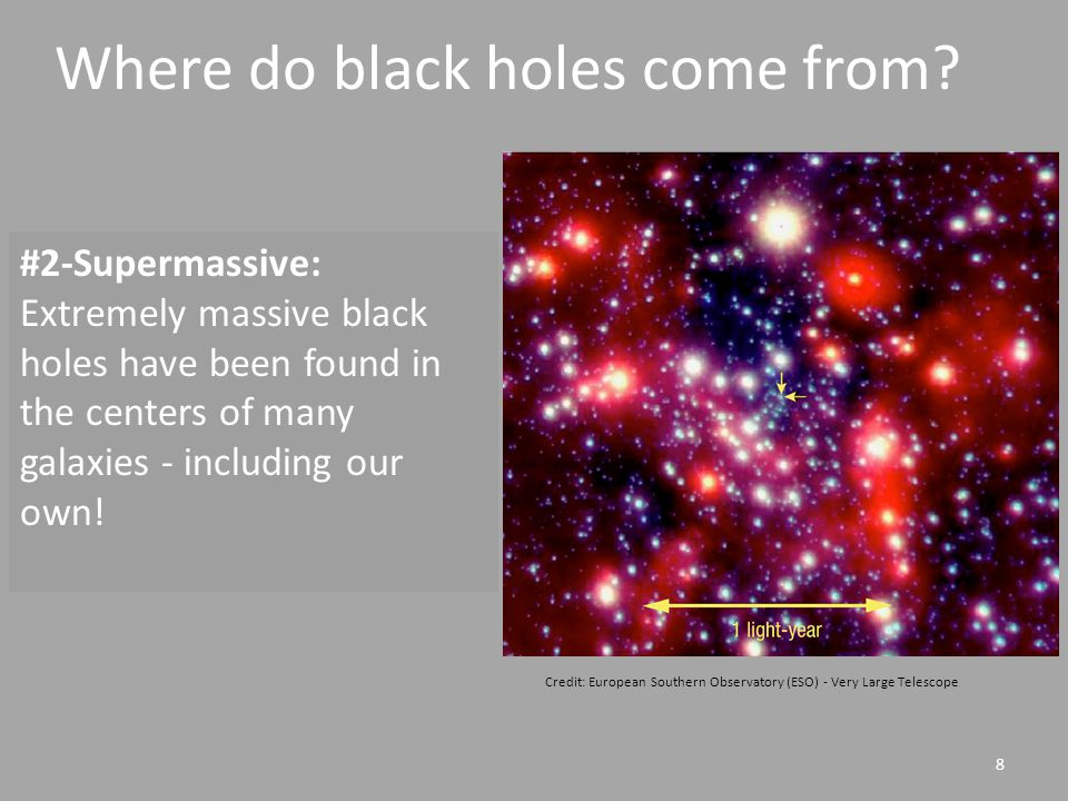 8 #2-Supermassive: Extremely massive black holes have been found in the centers of many galaxies - including our own.