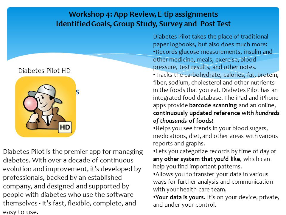 Workshop 4: App Review, E-tip assignments, Identified Goals, Group Study, Survey and Post Test Apps Review Facebook FaceTime