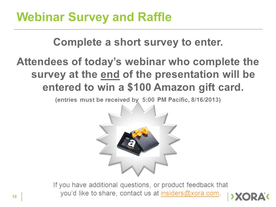 Complete a short survey to enter.
