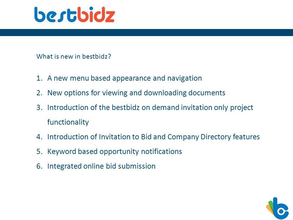What is new in bestbidz.