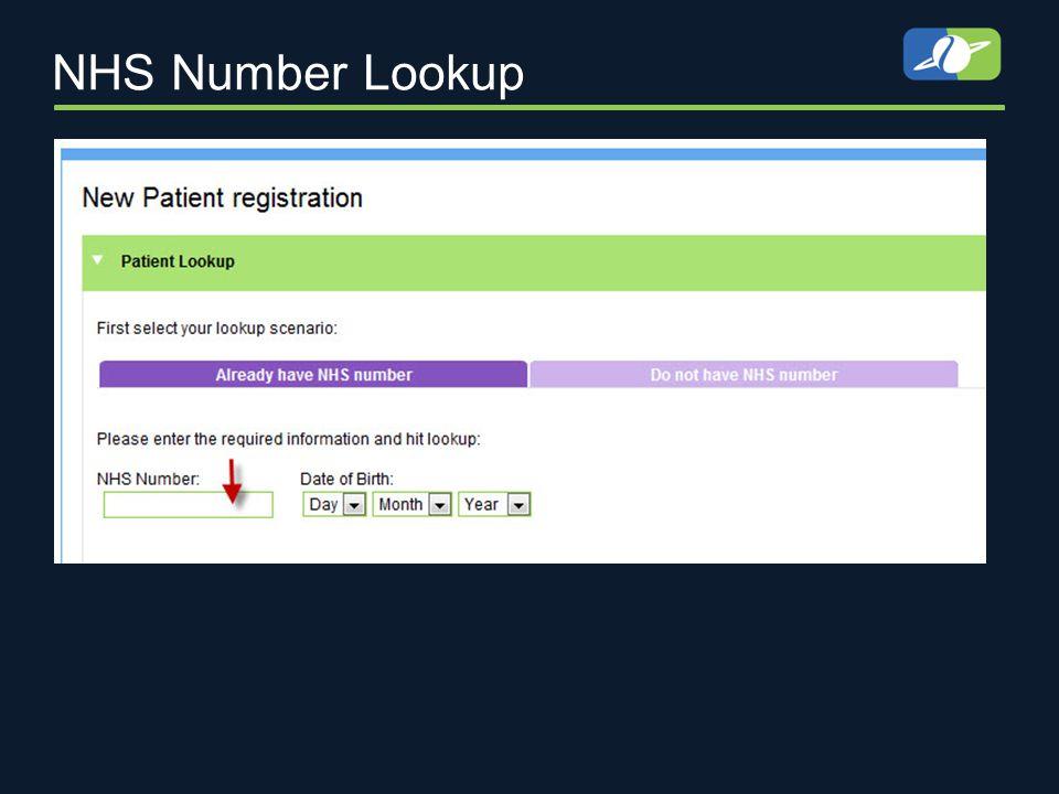 NHS Number Lookup